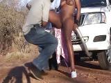 Jeune black défoncée dans la voiture